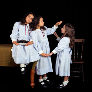 Olympia Simone and Justine as Lewis Carroll's Alice Edith and Lorina Liddell (The Cherry Group) 2003