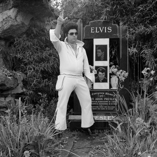 Mark Elvis Impersonator paying his respects at the Elvis Memorial Melbourne 1992