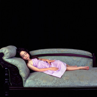 Olympia as Lewis Carroll's Xie Kitchin (sleeping on chaise) 2003