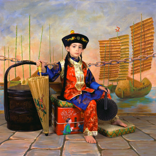 Olympia as Lewis Carroll's Xie Kitchin as a Chinaman (off duty) 2003