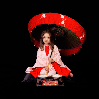 Olympia as Lewis Carroll's Beatrice Hatch in 'Apis Japanensis' 2003