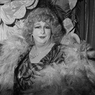Trish at Trish's Cafe, Melbourne, 1988