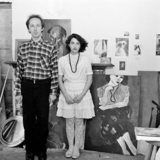 Self portrait with John Money, Painter, 1986