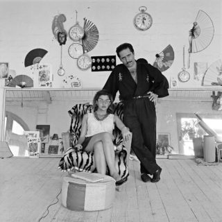 Self portrait with Sam Angelico, Magician, 1987